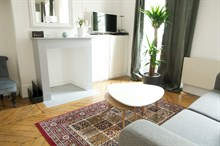 Honeymoon rental for 2 with bedroom in Paris near romantic attractions such as the Eiffel Tower in Paris 15th district