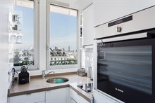 2-room monthly apartment rental for foodies with well-equipped kitchen near markets at Saint Paul Paris 3rd