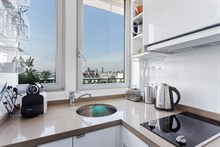 Furnished 2-room monthly flat rental for foodies with well-equipped kitchen near markets at Saint Paul Paris 3rd
