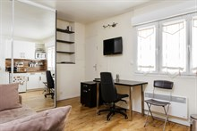 Affordable furnished studio apartment rental for 2 in Latin Quarter, Paris 5th