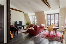 Furnished 2-bedroom apartment with fully equipped kitchen, L'Asile Popincourt Paris 11th