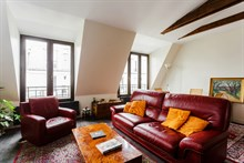 Monthly apartment rental, spacious with 2 double bedrooms, Bastille Paris 11th