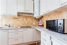 Furnished 2 room apartment with fully equipped kitchen, L'Asile Popincourt Paris 11th