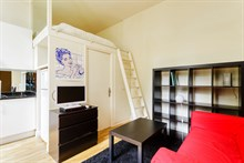 Modern studio flat for 2 for short-term stays on rue de Grenelle, Paris 7th