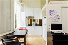 Short-term studio apartment with wifi for 1 to 2 guests in Paris 7th near Musée du Quai Branly