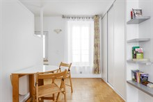 Vacation rental in Paris 15th arrondissement, long-term stays in 2-room turn-key apartment with plenty of privacy in calm area