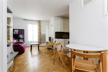 Turn-key apartment for long-term stays in France, extra privacy with 1 bedroom, wifi and TV, Paris 15th