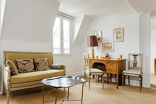 Distinctive studio flat for 2 guests near Luxembourg Gardens Paris 6th, short-term