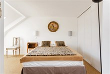 Modern, furnished large studio apartment in Paris 6th arrondissement near Luxembourg Gardens