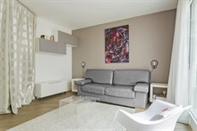 Affordable furnished studio apartment rental for 2 near Bibliothèque François Mitterrand, Paris 13th