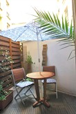 short term rental studio with terrace for 2 in Paris XV