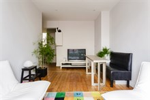 Short sabbaticals, furnished apartment rental in 1-bedroom Paris apartment with wifi in Paris 15th district