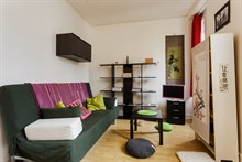 Monthly studio apartment rental for 2 guests in 18th arrondissement of Paris, rue Doudeauville