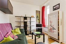 Modern flat rental for 2 guests rue Doudeauville Paris 18th
