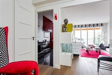 Monthly apartment rental for 2 guests with terrace in 20th arrondissement of Paris, near La Villette