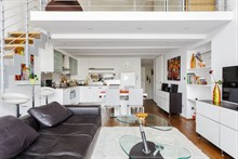 Luxurious 1-bedroom apartment with duplex for 4 in Paris 8th, rue du Faubourg Saint Honoré