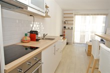 Turn-key studio apartment with terrace for long-term stays in France Paris 15th