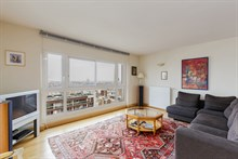 Weekly apartment rental, furnished with 2 bedrooms, perfect for four near Montparnasse Tower, Paris 15th
