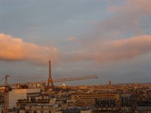 2 bedroom furnished and well equipped apartment for 4 available for short-term rental at Montparnasse Tower, Paris 15th