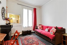 Short term 2 room apartment rental for 2 near Père Lachaise and Bagnolet, Paris 20th district