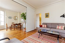 3 room furnished apartment for four available for monthly rent in Commerce district, Paris 15th