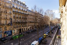 Luxury apartment rental w 1 bedroom for up to 4 guests on Boulevard Haussmann Paris 8th