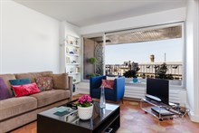Luxurious 1-bedroom apartment w/ furnished terrace in Paris 15th, with view of Eiffel Tower