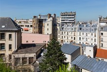 Turn-key apartment w/ terrace for long-term stays in France, extra privacy with 1 bedroom, wifi and TV, Paris 15th