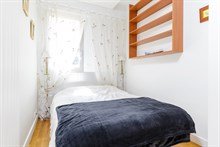 Live like a Parisian in 2-room apartment with kitchen, bathroom, wifi. Fully furnished for long-term rentals or monthly getaways in Paris 6th near Saint-Germain-des-Prés