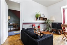 Business stays in functional apartment, short metro ride from many city attractions and business district, Père Lachaise, Paris 20th
