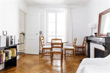 Furnished monthly apartment rental for 2 or 3 guests Batignolles, Belleville, Paris 17th