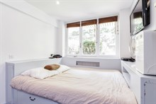 Modern short term apartment rental in 2 guest studio for business stay near Jardin du Luxembourg in Paris 6th