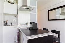 Monthly rental of studio apartment in Paris 6th, honeymoon stays or couples getaway