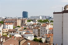 Flat rental for vacations amongst friends with stunning view in Issy Les Moulineaux near Paris near metro line 12