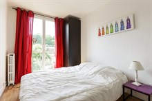 Romantic vacation stay in short term apartment rental near Paris with city view at Marie d'Issy