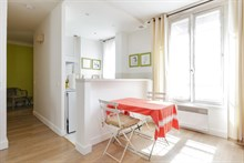 2-room furnished apartment for 2 or 3, monthly rental Commerce quarter, metro Motte-Picquet-Grenelle, Paris 15th