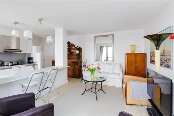 Le belv d re spacieux appartement f2 avec vue for Location appartement meuble sur paris