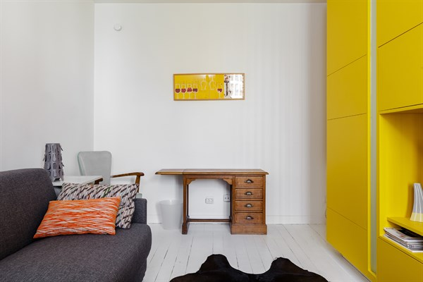 Le commandant studio design et color r cemment refait - Appartement au design traditionnel moderne colore ...