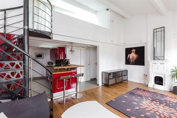 duplex 13 magnifique duplex de 2 chambres pour 6 personnes rue de tolbiac paris 13 me my. Black Bedroom Furniture Sets. Home Design Ideas