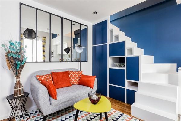 balthazar f2 en duplex moderne et refait neuf pour 2 personnes al sia paris 14 me my. Black Bedroom Furniture Sets. Home Design Ideas