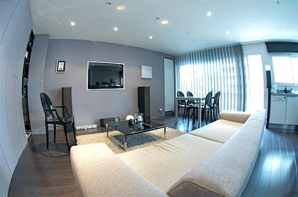 le black pearl magnifique appartement de 2 pi ces pour 2 avec terrasse paris xv my paris agency. Black Bedroom Furniture Sets. Home Design Ideas