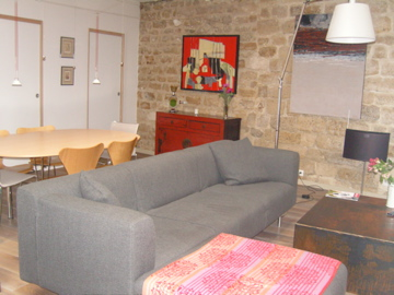 jourdain superbe loft de luxe louer meubl en courte dur e my paris agency. Black Bedroom Furniture Sets. Home Design Ideas