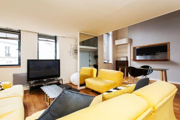 Laugier duplex atypique et moderne de 100 m2 avec 2 for Chambre a la semaine paris