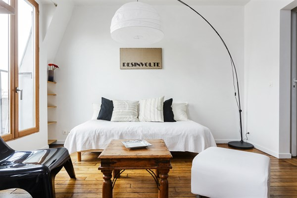 Le philippe bel appartement meubl et moderne pour location mensuelle 2 paris 18 me my - Location meublee temporaire paris ...