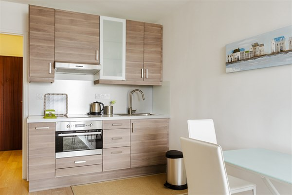 Bourdelle nuovo studio moderno con terrazza arredata a for Foto appartamenti moderni
